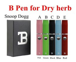Wholesale Micro G Electronic - Top Quality Micro B Dry Herb Vaporizer Kit Wax Doubel Pen Herbal Kits Snoop Dogg G Pro Blue Black Green DGK 2.0 Vapor Electronic Cigarettes