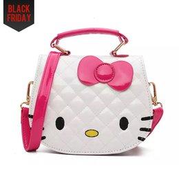 Wholesale Animal Backpack Bag Kids - Kids Purse Cat Children Cartoon PU leather Bag Crossbody Single Shoulder Bag Handbag Baby Mini Bag Cute Design