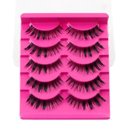 Wholesale Big False Eye Lashes - Free shipping No logo 5 Pairs A13 False Handmade Eyelashes Full Strip Eyelashes Long Thick Best Quality Must-have for Big Eyes Extention