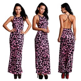 Wholesale Leopard Design Dresses - New 2017 dress sexy formal dresses with Leopard Prints Criss-Cross shoulder strap backless Luxury Unique Design High Quality Free Shipping