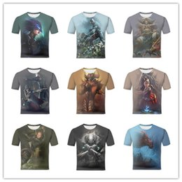 Wholesale Sexy Games Character - Sexy Female Halter Bathing Body Octopus Artistic female warrior in armor Game Character Design Men's Short Sleeves Casual 3D Print T shirt