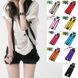 Wholesale Mens Clip Y Suspenders - Suspenders Fashion Womens Men Unisex Elastic Y Shape Braces Mens Adjustable Clip on Suspenders Elastic Y Shape Adjustable Braces Colors
