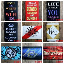 2019 segni formulati Retro Iron Paintings 20 * 30cm Metal Tin Sign Brevi poesie Words Tin Poster Mantieni la calma e vai sulle arti Carpa Budweiser Signs 4rjg segni formulati economici