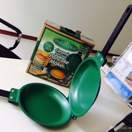 Wholesale Wholesale Long Jack - Flip Jack Pan Ceramic Pancake Maker Green Pan Non Stick Fry Eggs Baking Cake Kitchen Tool With Long Handle 19qw R