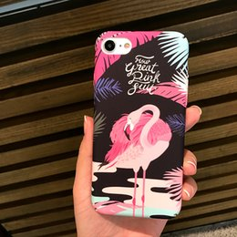 Wholesale Cute Korean Iphone Cases - Cute Phone case Korean flamingo phone7 plus mobile phone shell 6s frosted protective cover all-inclusive ultra-thin anti-shell 011