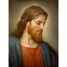 Pinturas a óleo christ on-line-Figura pinturas a óleo Cristo Retrato Filho de Homem Handmade Joseph Brickey arte da lona sala de estar decoração