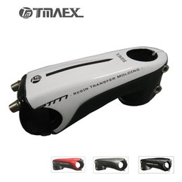 "Wholesale Carbon Fiber Road Bike Stems - 2017 New type 3k Carbon Stem 1""1 8 Road Mountain Bike White Stem 80 90 100 110mm 6 Degrees Carbon Fiber Cap Stem"