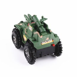 Wholesale Military Tank Toys - Electric flash stunt skip in tank military model toys simulation model car
