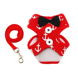 Wholesale Harness Pull - Pet Dog Harness and leash Adjustable Puppy Harness Vest No Pull Dog Harness Leads Leash Small Pet Accessories for Animals