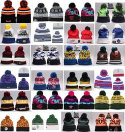 Wholesale Basketballs Hats - Wholesale winter Beanie Knitted Hats All 32 Teams baseball football basketball beanies sports team Women Men popular fashion winter hat DHL