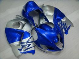 Wholesale Abs Hayabusa Fairings Kit Blue - ABS Fairing for Suzuki GSXR1300 2001 Fairing Kits GSX R1300 05 06 Silvery Blue Bodywork HAYABUSA 2003 1997 - 2007