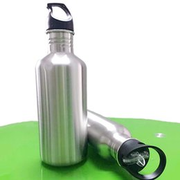 Wholesale Water Pots Kettles - Stainless Steel Kettle With Sport Cap Ater Bottle Leaking Proof Large Storage Outdoor Sport Kettle Bicycle Climbing Drinkware Water Pot