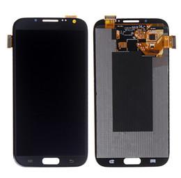 Para Samsung Galaxy Note II N7100 Pantalla táctil LCD con montaje digitalizador Pieza de repuesto gris blanco con herramientas de reparación gratuitas desde fabricantes