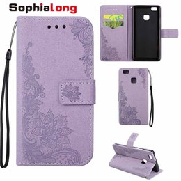 Wholesale Bling Blackberry Covers - P9 Lite Case Cover for Huawei P8 Lite Bling Shell Wallet Style Mobile Phone Bags for Huawei G9 Lite