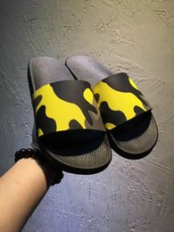Wholesale Best Men Slippers - Fashion slide sandals slippers for men WITH BOX 2017 Hot Designer camouflage beach flip flops slipper BEST QUALITY Size 38-44