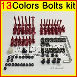 Wholesale Suzuki Fairings Bolts - Fairing bolts full screw kit For SUZUKI Katana GSXF600 GSX750F 98 99 00 01 02 1998 1999 2000 01 2002 Body Nuts screws nut bolt kit 13Colors