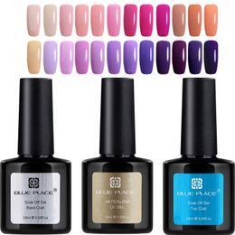 Wholesale Good Nail Colors - Wholesale-3PCS Gel UV Polish 10ml Blue Place 120 Shinning Colors Fingers Professional Nail Art UV LED Lamp Gel Lac Varnish Good quality