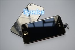 Wholesale Iphone4s Digitizer - gold screen for iPhone4   4s Gold LCD Display Touch Screen Digitizer Assembly Mirror Gold for iPhone4s   4 with battery cover