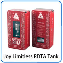 Tanque vs goteo online-IJoy Tanque RDTA ilimitado Tanque de goteo 2 en 1 Tanque de goteo reconstruible Atomizadores Llenado Control de flujo de aire VS Tornado RDTA 0266088-1