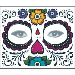 Wholesale Neck Face Art - Makeup Waterproof Tattoo Sticker Body Art Temporary Holloween Opera Face Tattoo Sticker Supplies Free Shipping