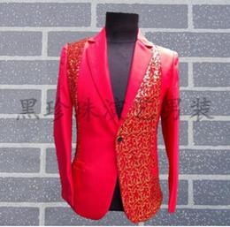 красный костюм с блестками Скидка Черный красный мужской костюм дизайн мужской сценические костюмы для певцов мужчин блесток блейзер танцевальная одежда куртка стиль жених вечернее платье