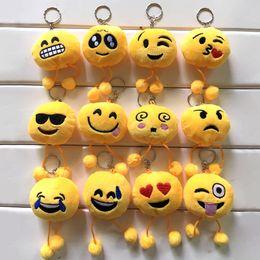 Emoji Anahtarlık emoji Anahtarlık Sarı Yastık Dolması Peluş Yumuşak Oyuncak Anahtar Zincirleri stokta ücretsiz kargo cheap soft toy chain nereden yumuşak oyuncak zincir tedarikçiler