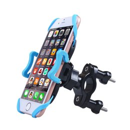Wholesale Bicycle Handlebar Clamps - Bicycle Bike Phone Holder Stand Handlebar Mount Cradle Clamp 360 Rotation Silicon Band for IOS Android Smartphones GPS