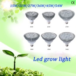 Wholesale E27 36w Grow - 15W  21W 27W 36W 45W 54W Led Grow Light For Indoor Plant E27 AC85-265V Red+Blue LED Plant Grow Light Lamps for Flowering Plant