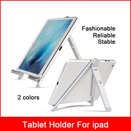 Wholesale Tablet Tripod Stand - Universal 7-10inch Adjustable Portable Folding For iphone 8x Ipad Mini Air Vloerstandaard Stand Desk Tripod Aluminium Beugel Tablet Holder