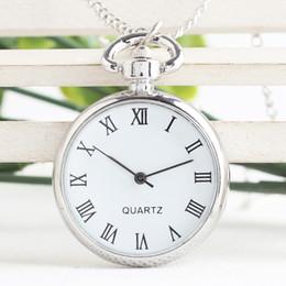 Wholesale Pocket Watch Silver Antique - Stainless steel Antique quartz pocket watches necklace ,christmas gift 5pcs   lot 2181
