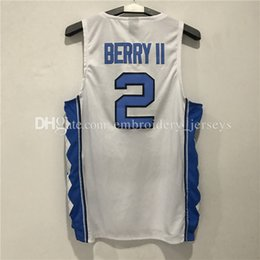 Wholesale Berry Men - 100% Stitched Men's #2 Joel Berry II Basketball jersey Embroidery Adult Wall jerseys Free Shipping