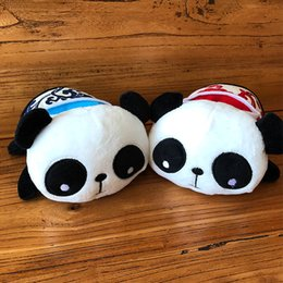 Wholesale Perfect Seats - Stuffed Panda 8*13*16cm Mobile Phone Seat Lovely Cartoon Blue and Red Panda Plush Toy Perfect Gift For Children birthday and Christmas Gif