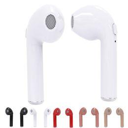Wholesale Earphones Mini Usb - HBQ i7 TWS Twins True Earphone Mini Bluetooth V4.2 Stereo Headset In Ear Earbuds For IPhone 7 Plus Galaxy S8 Plus LG Retail Packaging