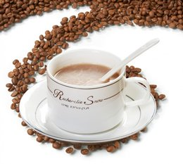 Wholesale European Tea Sets - 2017 new European bone china coffee cup and saucer with spoon afternoon tea mug drinkware sets dining bar