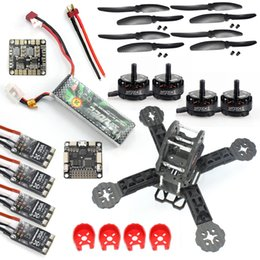 Wholesale E Sp - DIY Toys RC FPV Drone Mini Racer Quadcopter Kit 190mm SP Racing F3 Deluxe Flight Controller 2200mah Battery F18893-E