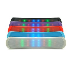 Wholesale Speakers Dancing Led Lights - LED Dancing Updated B 13 B13L Pill Pulse Bluetooth Wireless Mini Speaker Stereo Audio Sound Light FM Radio Player with retail package