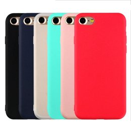 Wholesale Colourful Bags - Candy Colourful iphone7 Case Matte Soft TPU Case For iphone 6 6s plus 5 5s OPP BAG