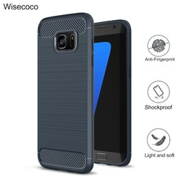 Wholesale Drawing Pattern Black - Shockproof Case For samsung galaxy s8 plus s7 s6 edge g530 note7 c9pro Carbon fiber pattern Soft TPU Drawing Phone cases cover