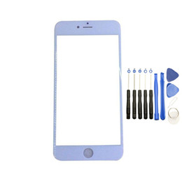 Wholesale Iphone 5c White Front - Front Outer Touch Screen Glass Replacement for iPhone 5 5s 5c Black White with Tools free DHL
