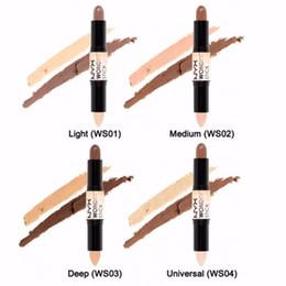 Argentina NYX Wonder Stick corrector Destacado Contour Stick Foundation Maquillaje para la cara Contour stick 4Colors Light / Medium / Deep / Universal cheap highlighting makeup Suministro