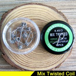 Wholesale Heater Resistance Coil Wire - ecig coil wire vape Mix Twisted Fused Clapton NICHROME Alien Wire Coil Quad Tiger heater coil Heating Resistance Wire for Box RDTA mod