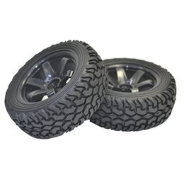Wholesale Rally Parts - 4PCS High Performance RC Rally Car Grain Rubber tires and Wheels for 1:10 RC On Road Car Traxxas Tamiya HSP HPI Kyosho