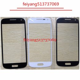 Wholesale Galaxy S4 Glass Lcd - High Quality Outer Glass for Samsung Galaxy S4 mini i9190 i9195 i9192 LCD Front Glass Outer Lens Replacement