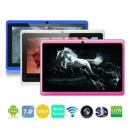 Wholesale Cheap Android Gps Phone - Q88 7 Inch Android 4.4 Tablet PC ALLwinner A33 Quade Core Dual Camera 8GB 512MB Capacitive Cheap Tablets