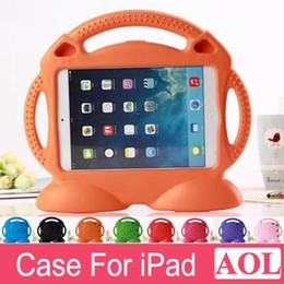 Wholesale eva ipad - For iPad 2 3 4 5 6 air2 mini mini4 Kids Case Cute Thomas Cartoon Shockproof Safe EVA Foam Handle Stand Protective Cover