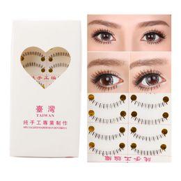 Wholesale False Bottom - Wholesale- Handmade 10 Pairs Natural Lower Under Bottom Fake False Eyelashes Eye Lashes Hot