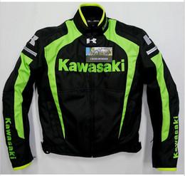 Wholesale Kawasaki Motorcycle Jackets Men - New arrival men jacket KAWASAKI winter automobile race clothing motorcycle clothing thermal removable liner flanchard