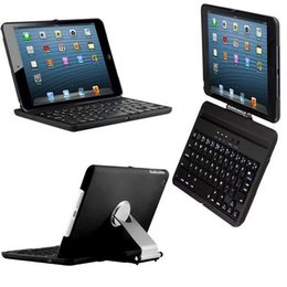 Wholesale Rotating Keyboard Mini - 360 Degree Rotating Wireless Keyboard Aluminium Pull Out Bracket Laptop Style Keys For Ipad Mini 1 2 3 With Retail Box