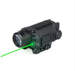 Wholesale Helmet Cold - New Arrival Tactical LED Flashlight Torch Light With Green Laser For Helmet Head Hunting