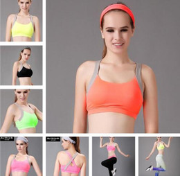 Wholesale Push Up Bra Tank Top - Yoga Bras Padded Push Up Tanks Tops Women Sports Yoga Tank Tops Gym Shirt Running Vest Fitness Jogging Bra Sexy New 5 Colors